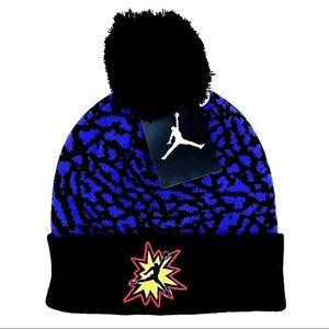 🆕 Air Jordan Brand Kids Winter Hat Beanie Pom Pom